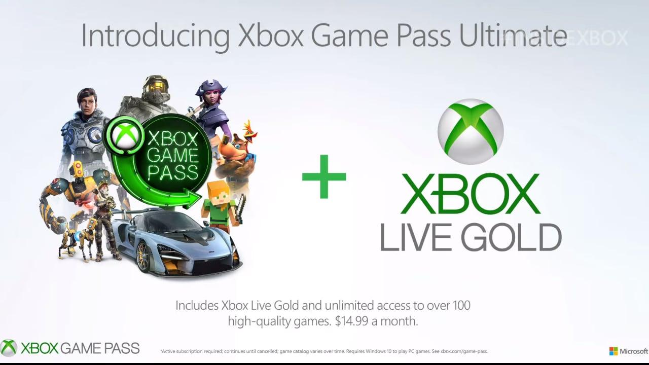 Xbox Game Pass Ultimate: il nuovo abbonamento include Xbox Live Gold e Game Pass a 12,99€ al mese