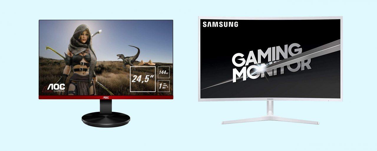 Monitor gaming Samsung e AOC in offerta su Amazon: Full HD, 144 Hz e alta reattività a partire da 219€