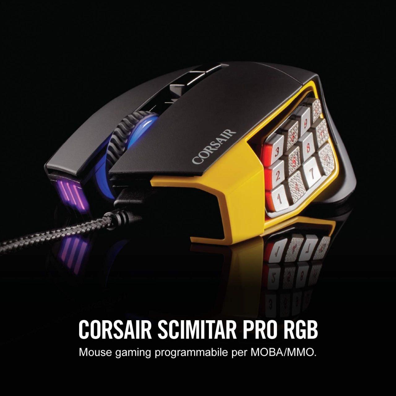 In fissa coi MOBA? Non perdetevi questo mouse gaming Corsair in super sconto