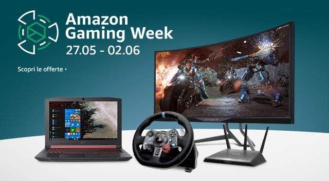 Amazon Gaming Week fino al 2 giugno: notebook, PC desktop, monitor, giochi e accessori in super sconto