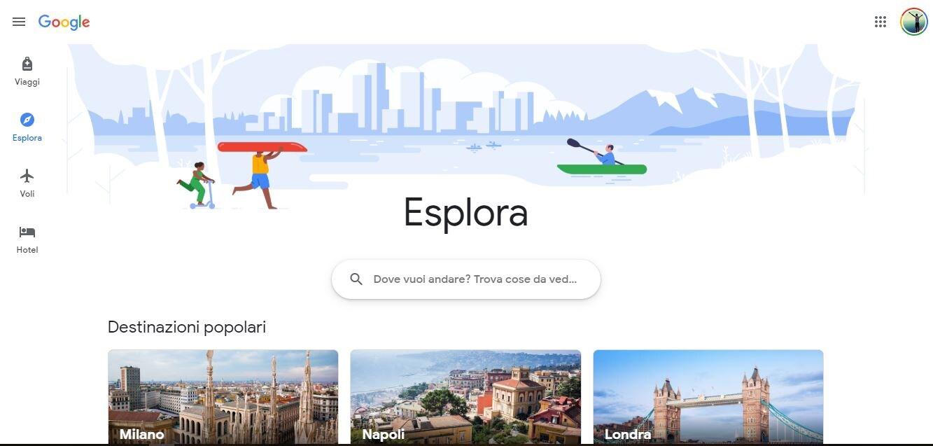 Il nuovo Google Viaggi: tutto in un solo posto