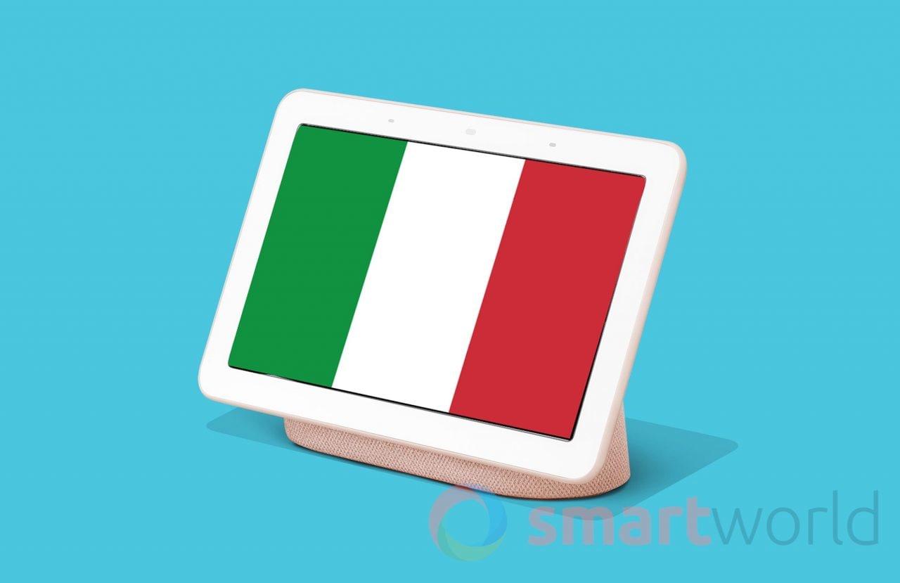 Nest (Google Home) Hub ora parla italiano