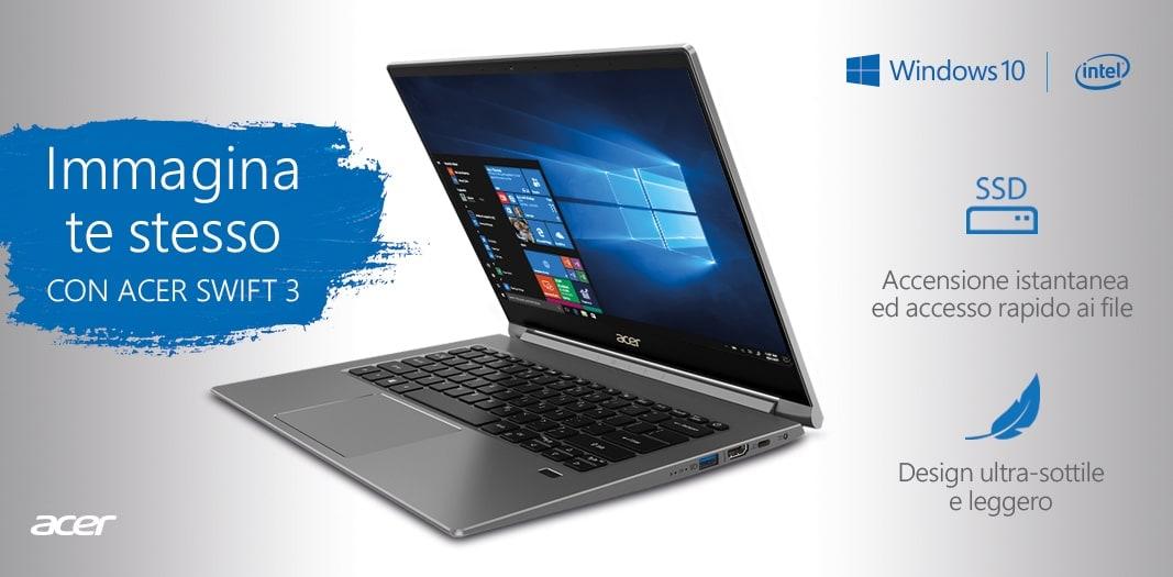 """Unieuro """"Acer Days"""" fino al 30 maggio: notebook, PC fissi e monito in sconto"""