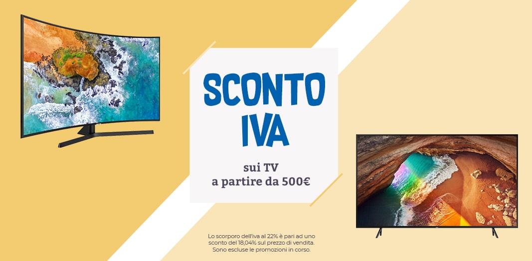 NO IVA Unieuro su tanti TV 4K: solo per oggi sconti per prodotti Samsung, Sony, LG e Philips