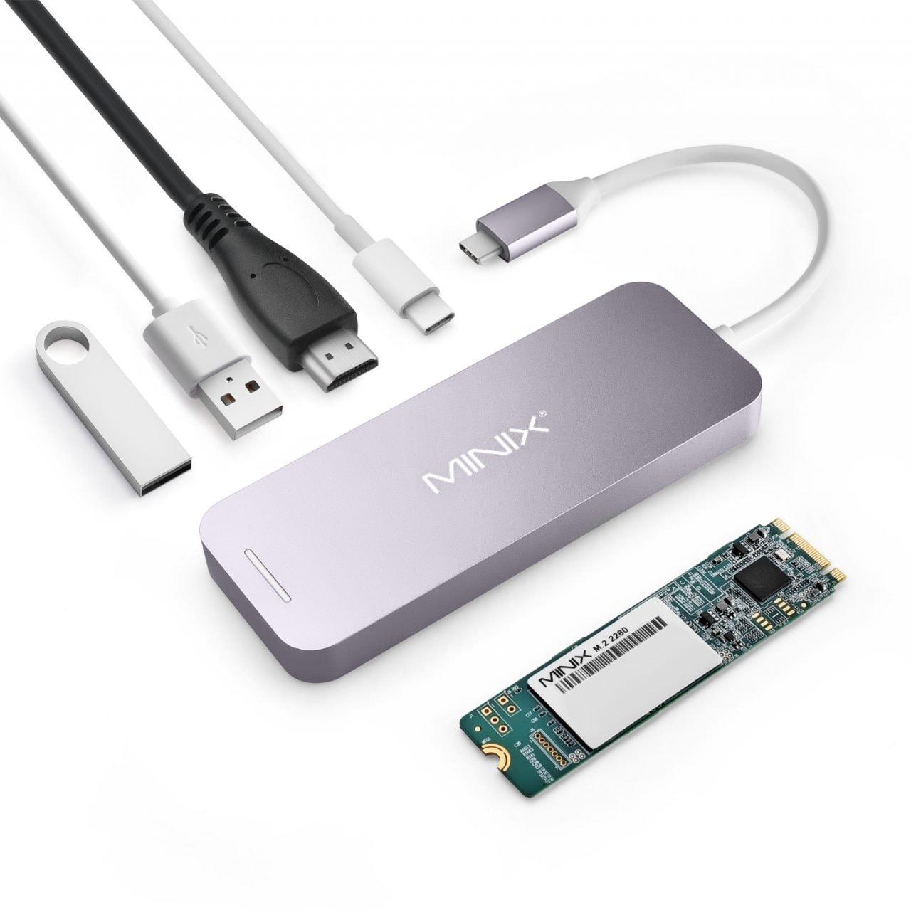 MINIX presenta l'accessorio definitivo per il vostro MacBook: hub USB-C con SSD integrato fino a 240 GB! (foto)