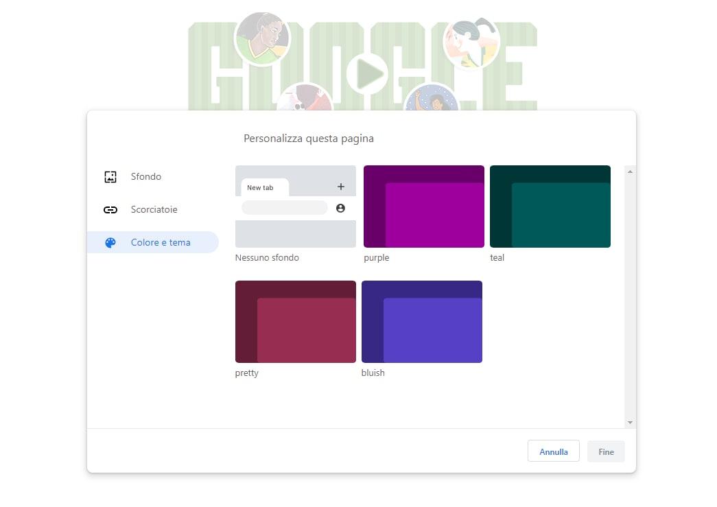 Google vuole facilitare la personalizzazione del browser, con alcuni temi pre-installati (foto)
