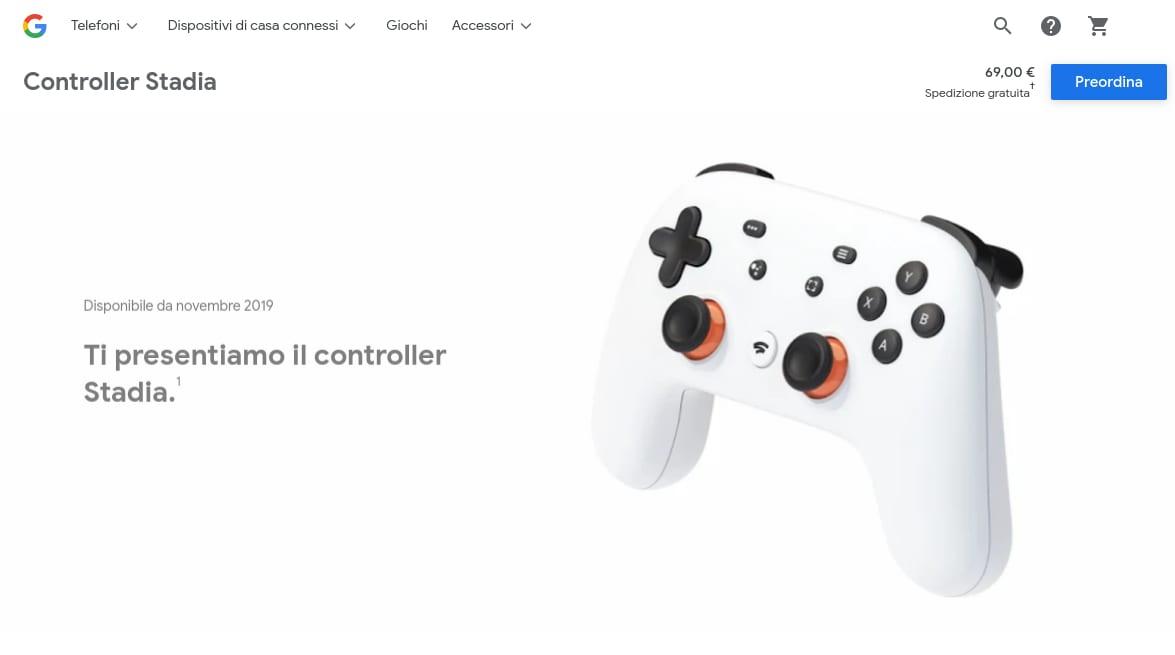 I controller Stadia sono in vendita sullo Store Google anche senza Founder's Edition (foto)