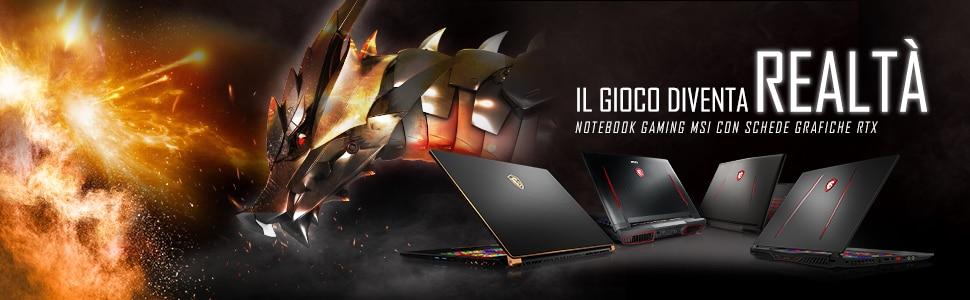 Notebook gaming MSI con NVIDIA RTX 2060 in offerta con 350€ di sconto