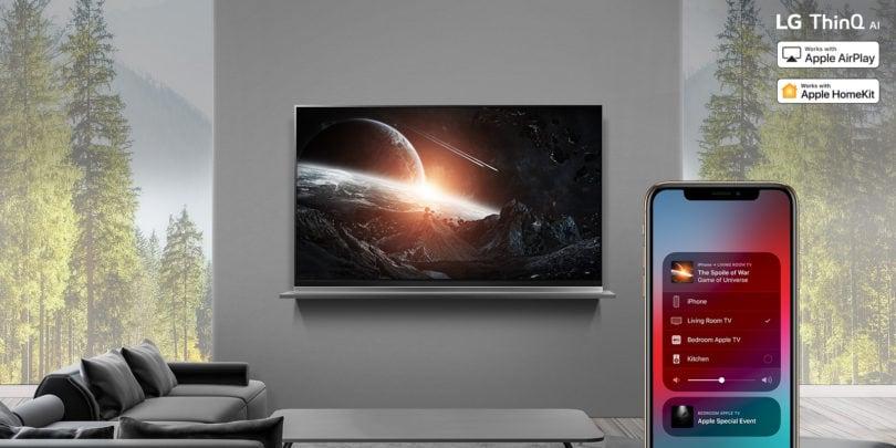 Apple AirPlay 2 e HomeKit sbarcano sui TV AI 2019 di LG