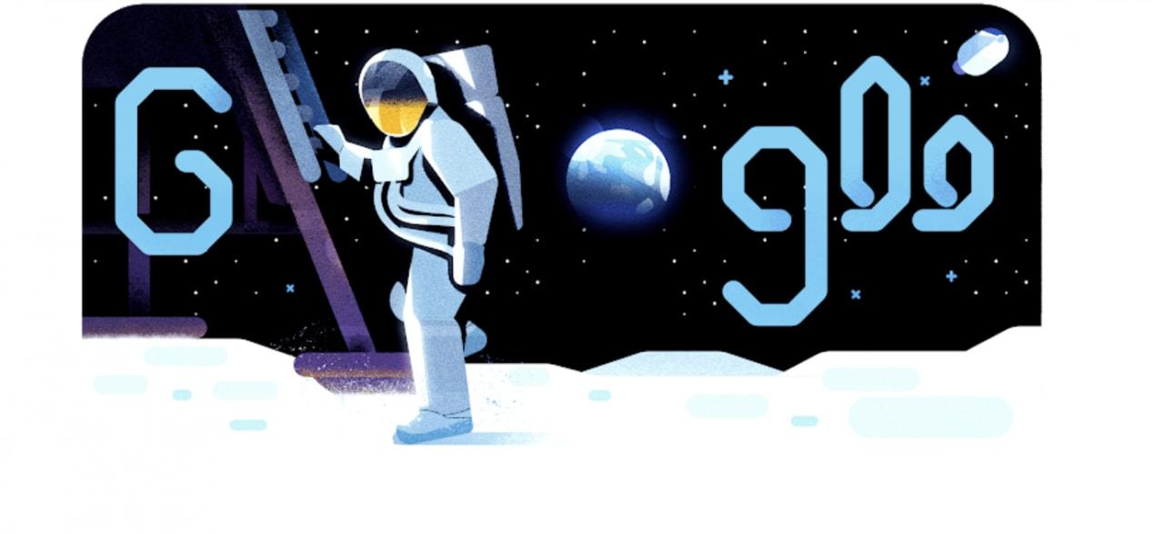 Risultati immagini per doodle di google luna