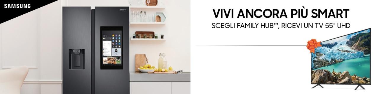 """Acquistando un Samsung Family Hub da Euronics vi portate a casa una TV da 55"""", ma solo fino al 15 luglio"""