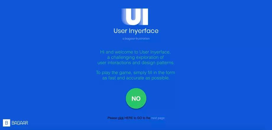 Come NON progettare una UI? Ce lo insegna User Inyerface nel modo più frustrante possibile