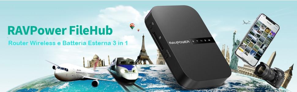 Marshall Minor II: sconto Amazon per rockeggiare con le cuffiette Bluetooth 5.0 - image RAVPower-FileHub-2019 on https://www.zxbyte.com
