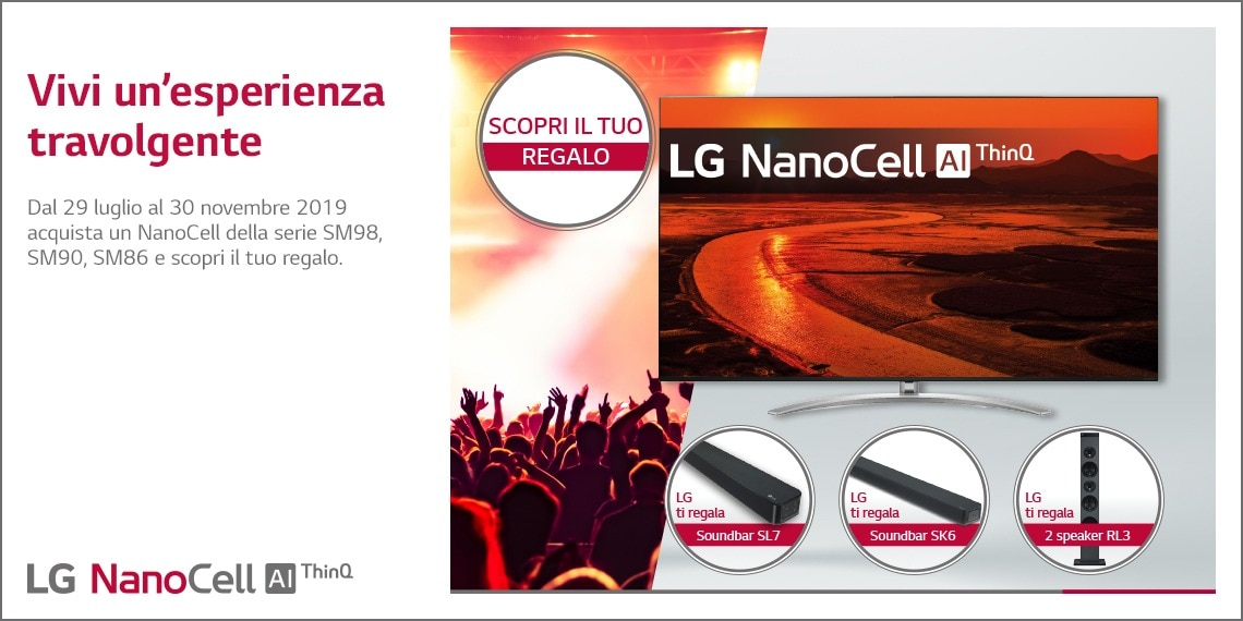 Acquistando televisori lg nanocell 2019 in regalo soundbar for Regalo mobile tv
