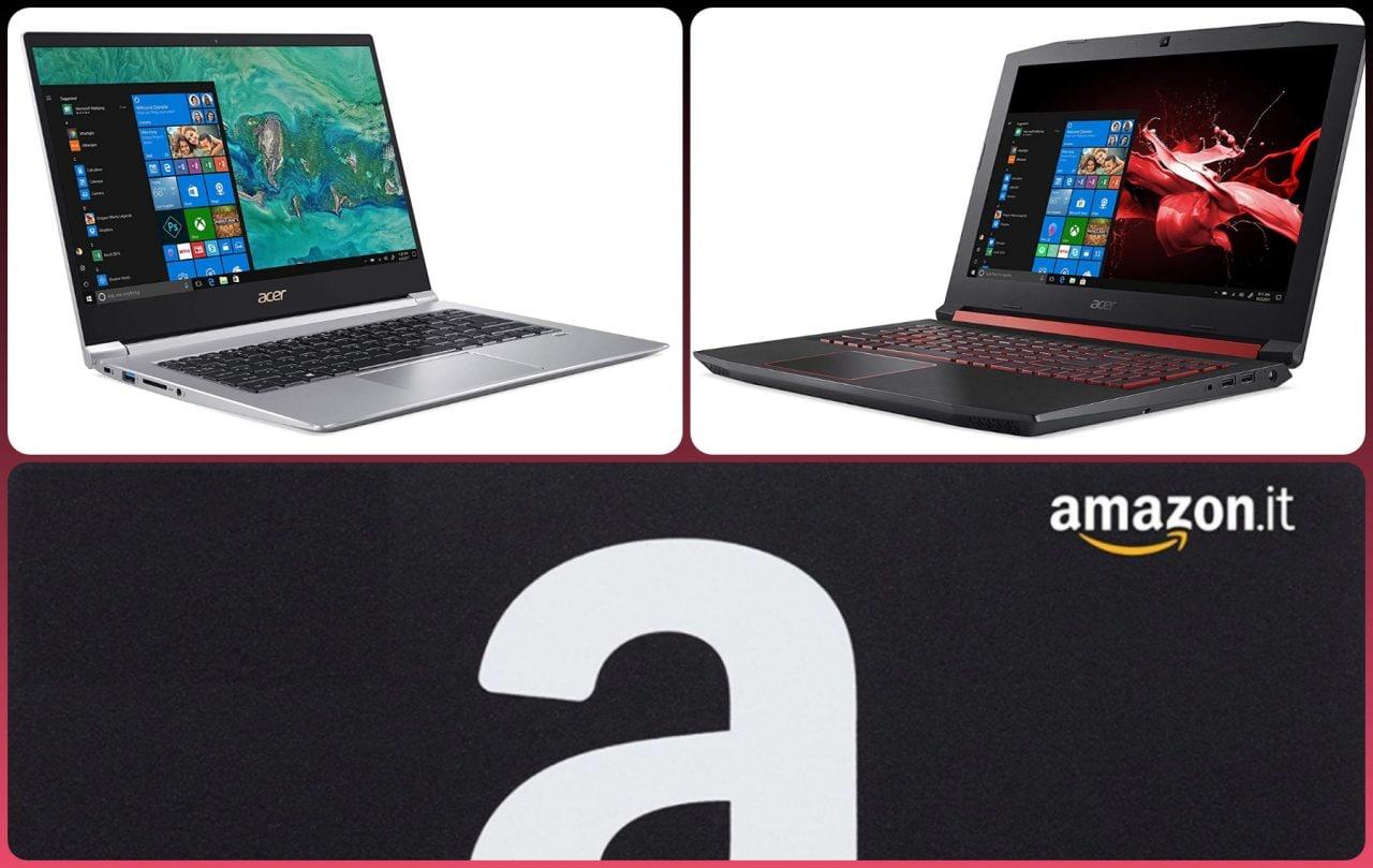 Notebook Acer Nitro 5 e Swift 3 in sconto su Amazon: preferite gaming o produttività in movimento?