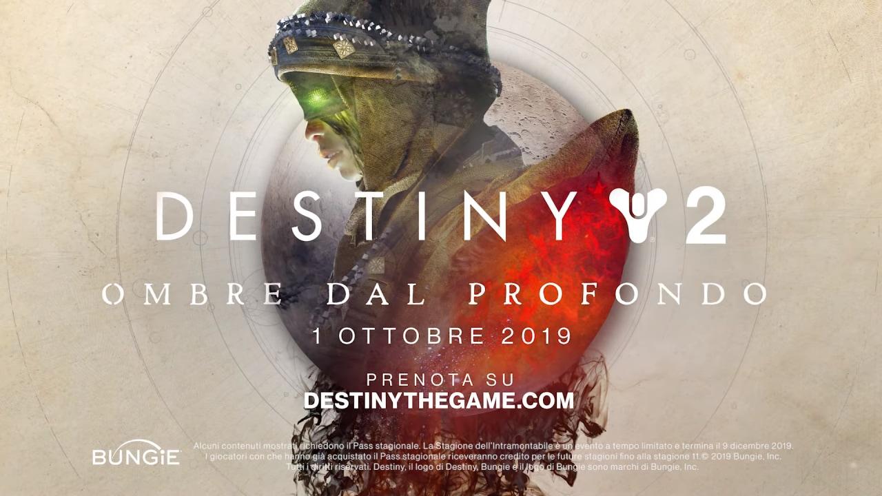 Destiny 2: Ombre dal Profondo, ecco il trailer di lancio