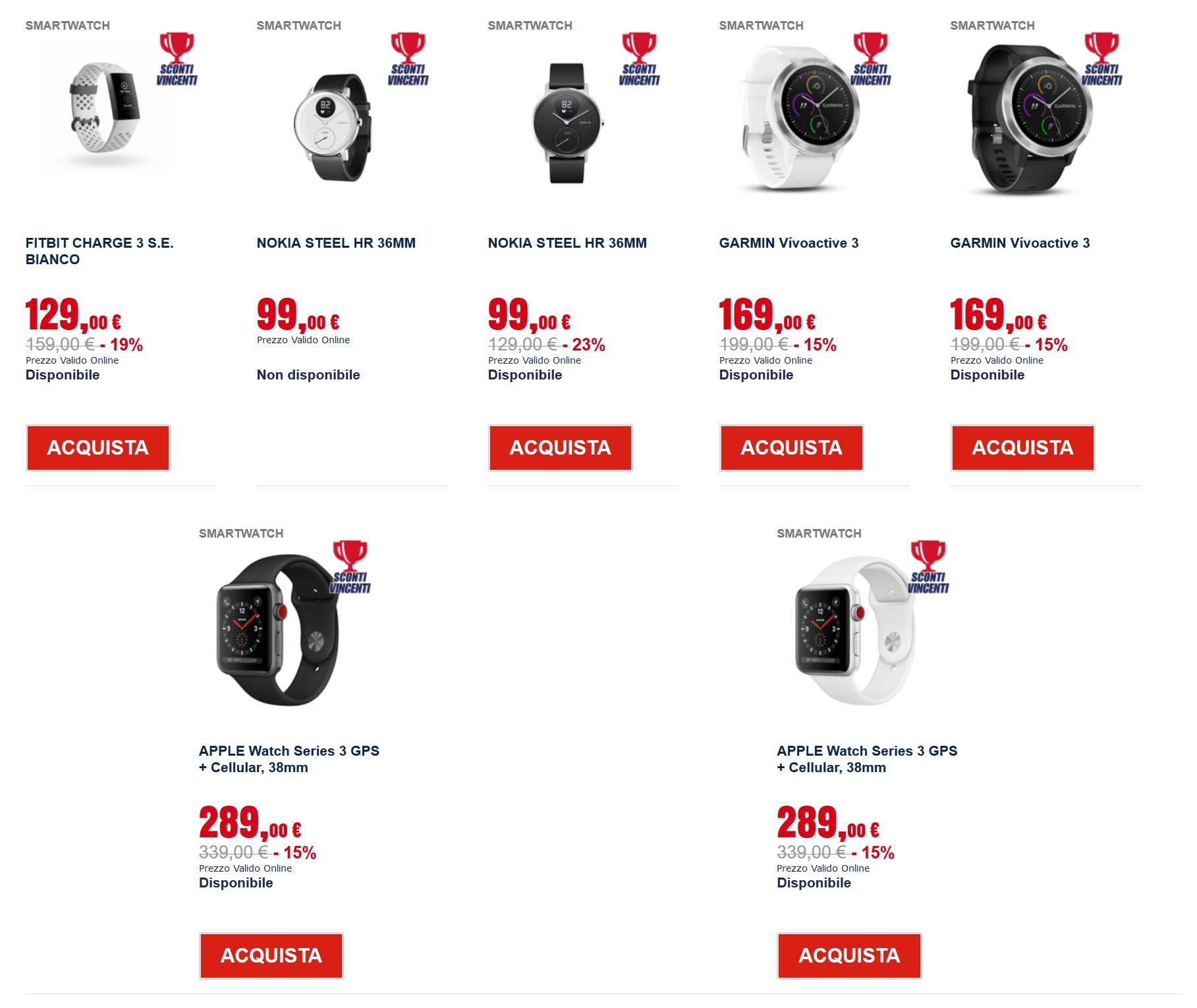 trony sconti vincenti – smartwatch