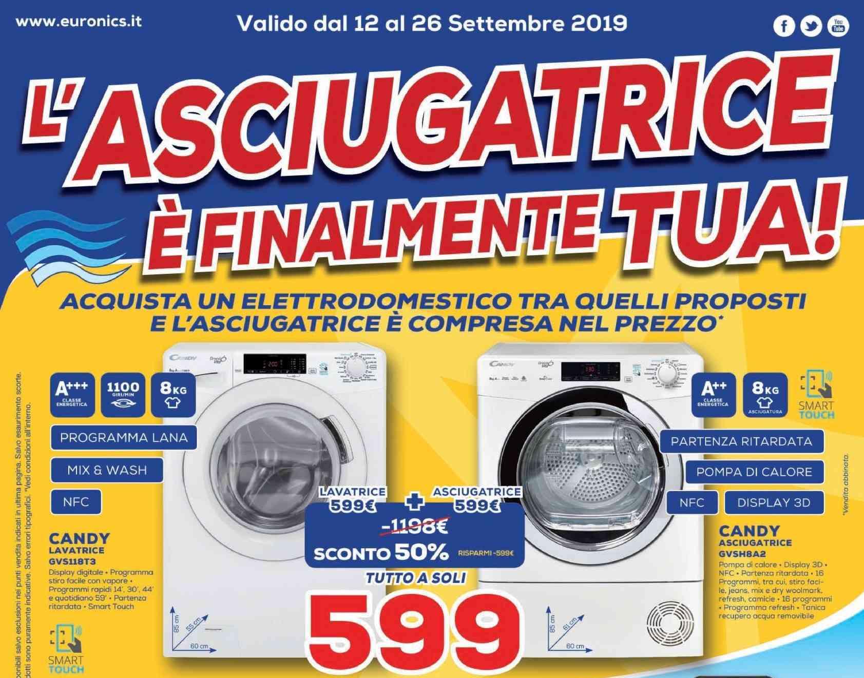 Volantino Euronics L Asciugatrice è Finalmente Tua 12 26 Settembre Non Solo Elettrodomestici Smartworld