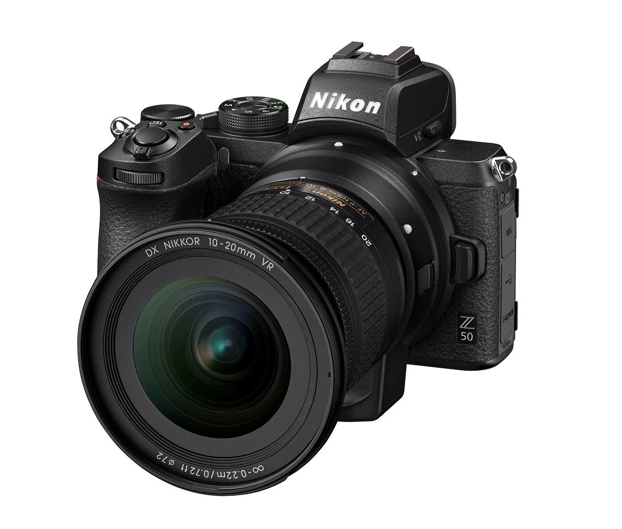 Nikon Z 50_FTZ_10-20DX_4.5-5.6_front34l