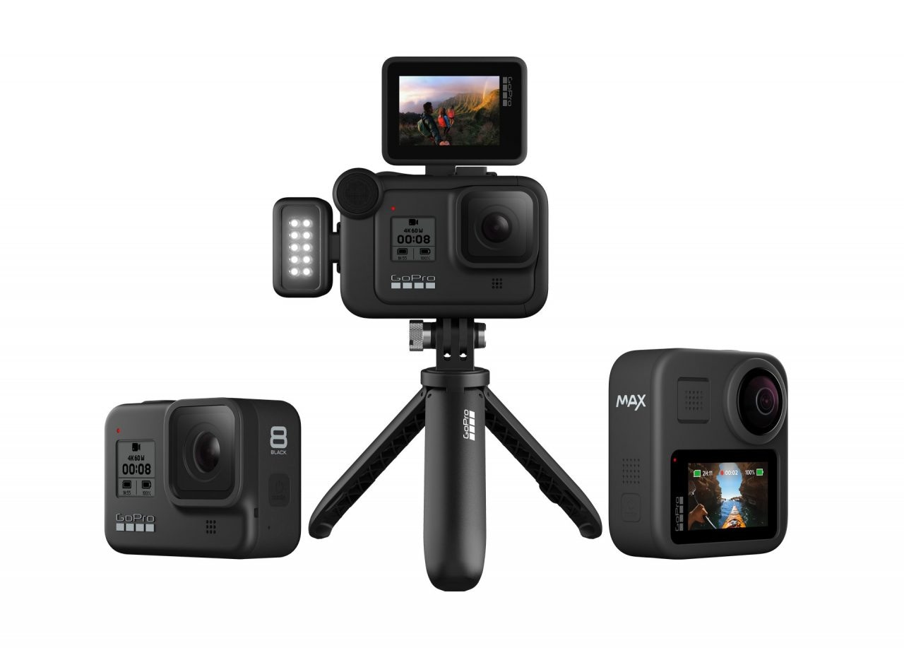 GoPro HERO8 BLACK (con Mods) e Max Ufficiali: GoPro rilancia su stabilizzazione, 360° e youtuber (foto e video)