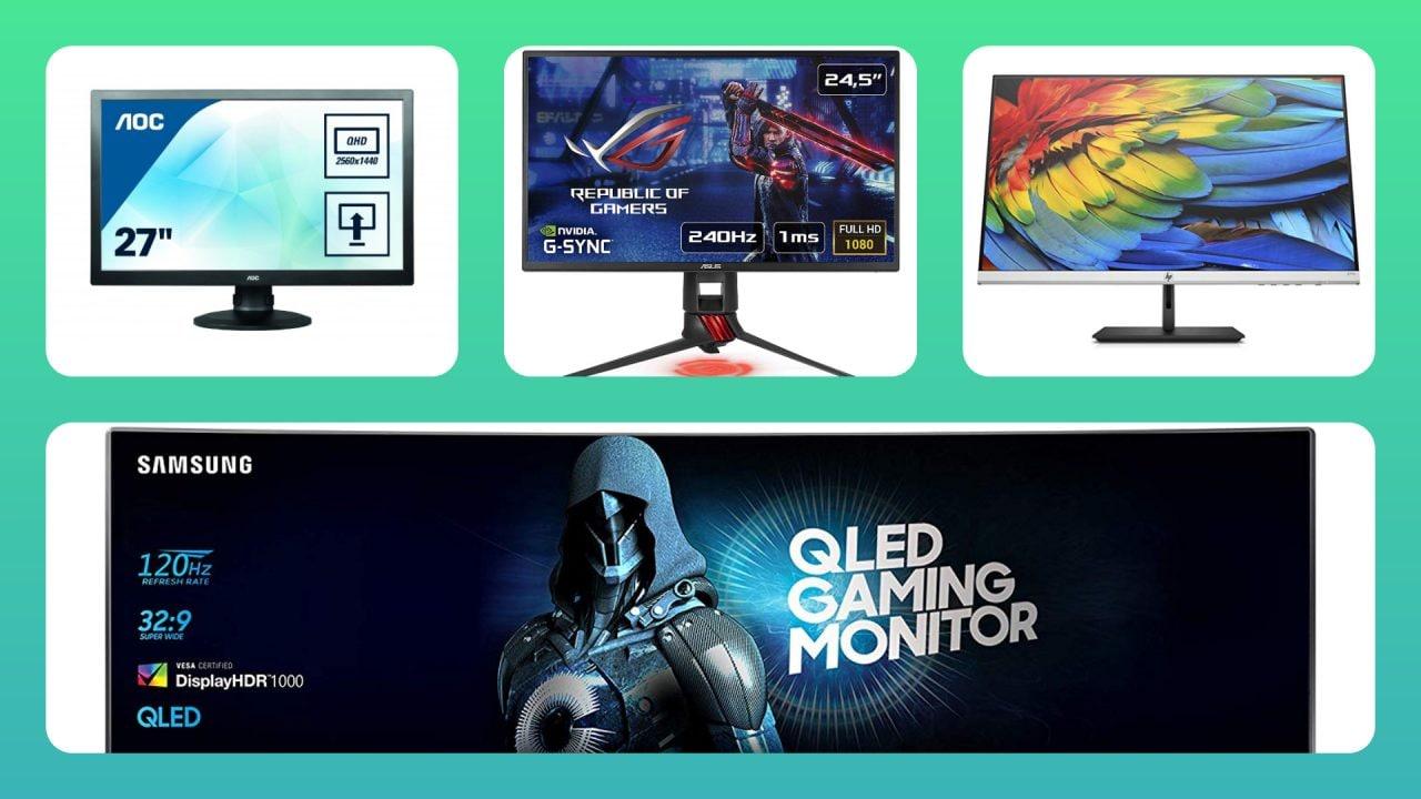 Sconti Amazon per i monitor: quattro modelli per tutti i gusti a partire da 109€