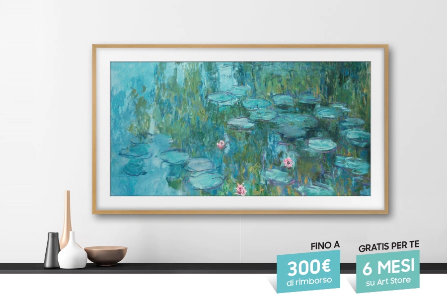 Rimborsi fino a 300€ sulle TV Samsung The Frame: trasformate il vostro salotto in una galleria d'arte
