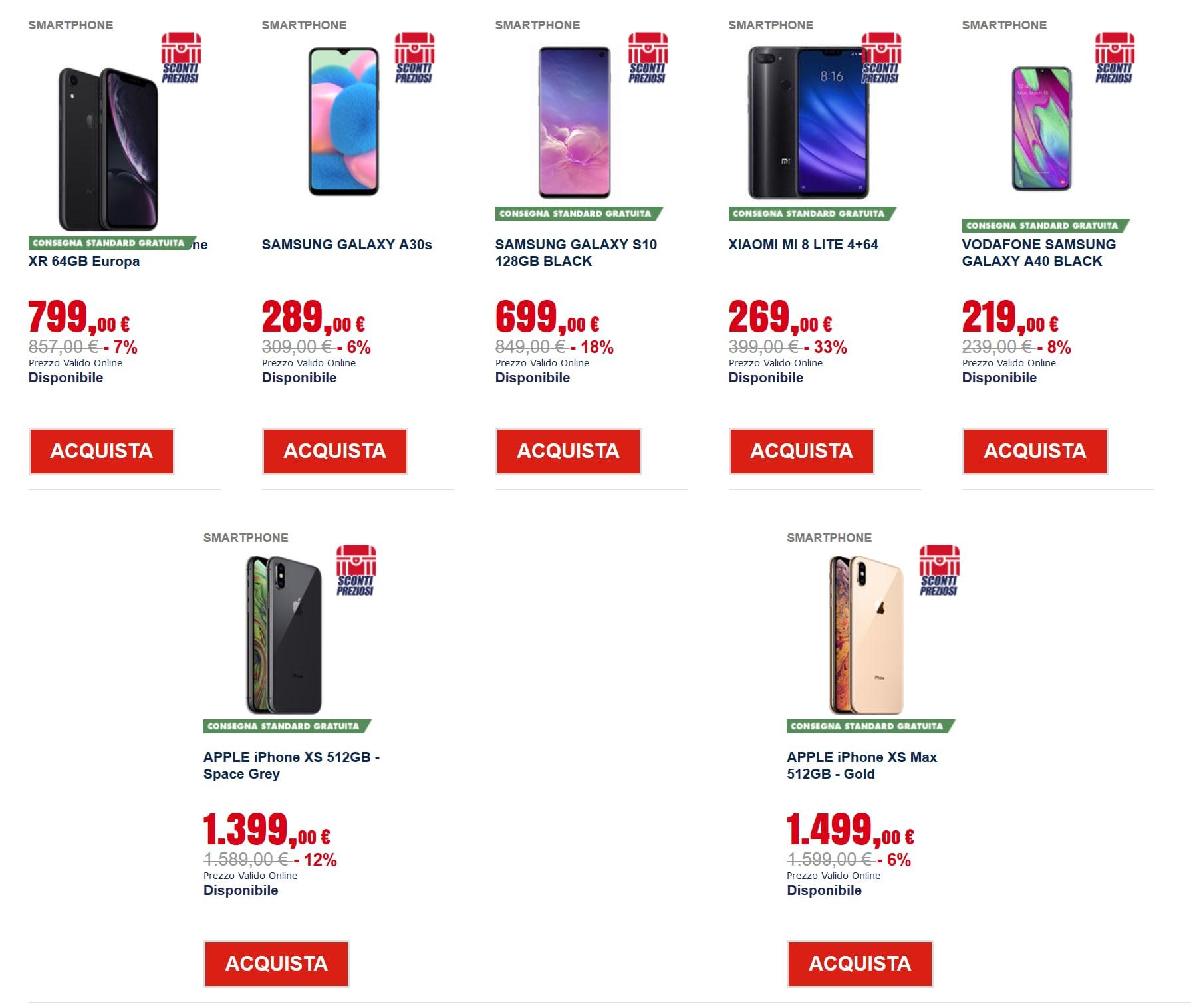 trony sconti preziosi – smartphone
