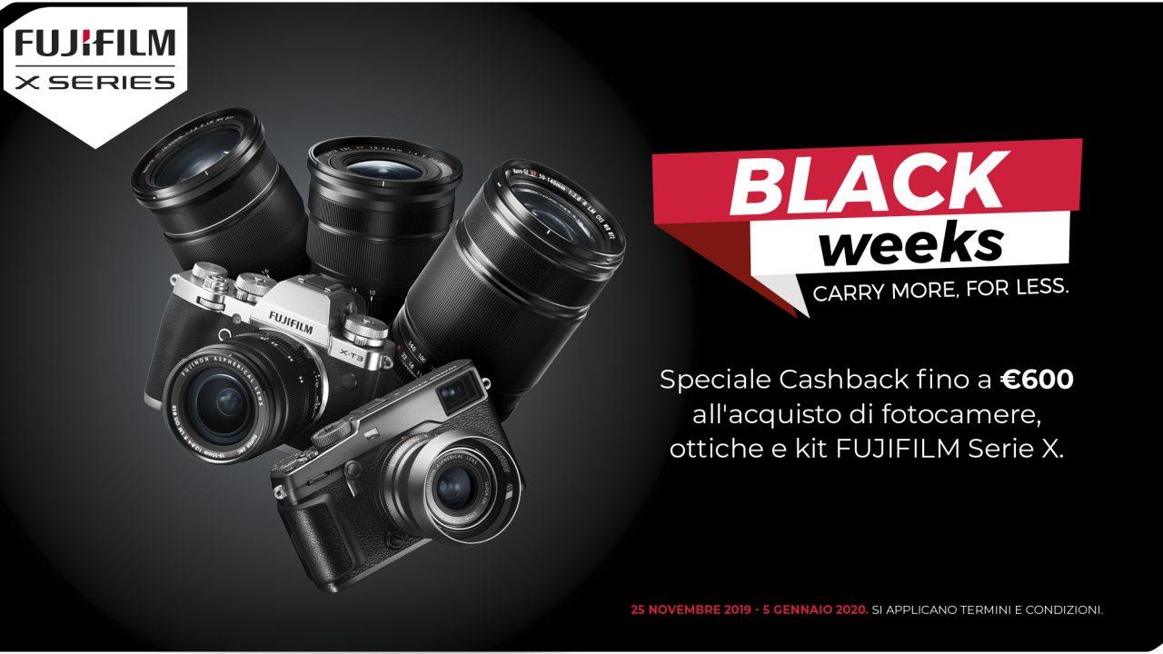 Le Black Weeks di Fujifilm durano fino al 5 gennaio 2020: cashback fino a 600€ su fotocamere e ottiche!