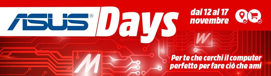 In cerca di un PC ASUS? Da MediaWorld ci sono gli ASUS Days: tanti sconti fino al 17 novembre