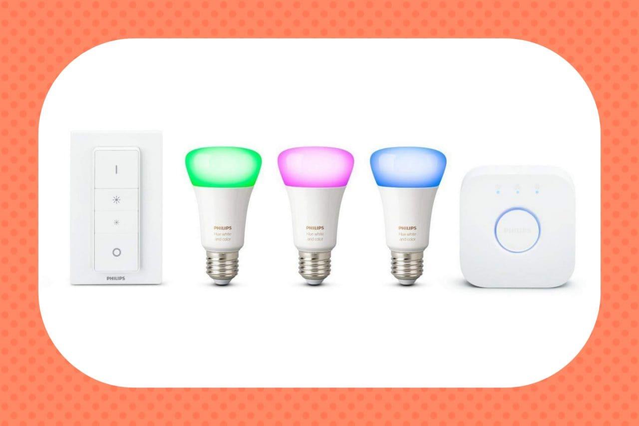 Sconto speciale per le Philips Hue: kit da 3 lampadine smart a 129€