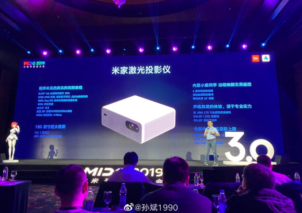 Xiaomi presenta in Cina un nuovo proiettore: 2400 ANSI, 150 pollici e dual speaker! (foto)