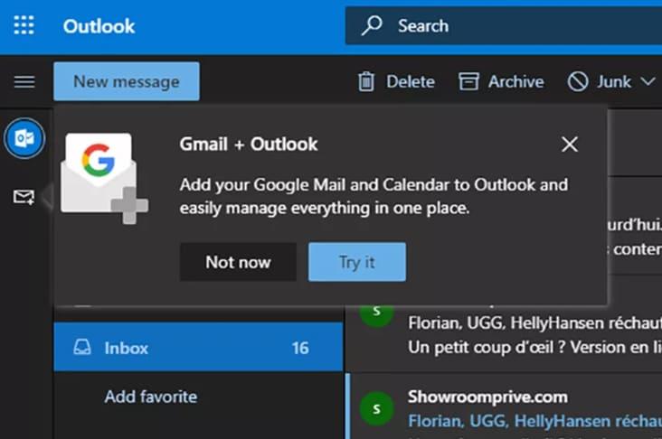 Outlook.com si apre a Google e testa l'integrazione di Gmail, Drive e Calendar (foto)