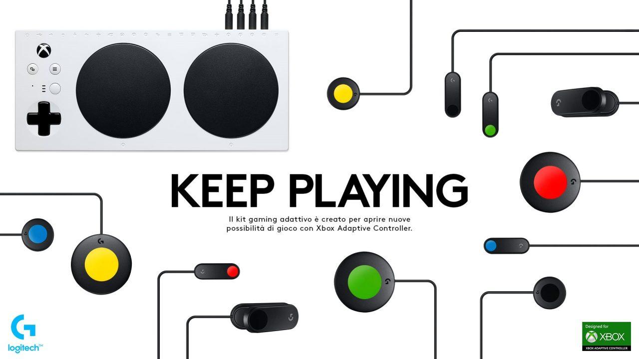 Logitech rende il gaming più accessibile alle disabilità: ecco il nuovo G Adaptive Gaming Kit (foto)