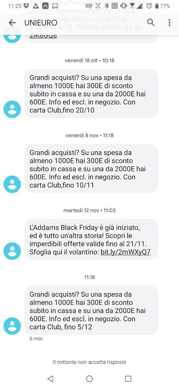 offerta sconto cassa unieuro dicembre 2019