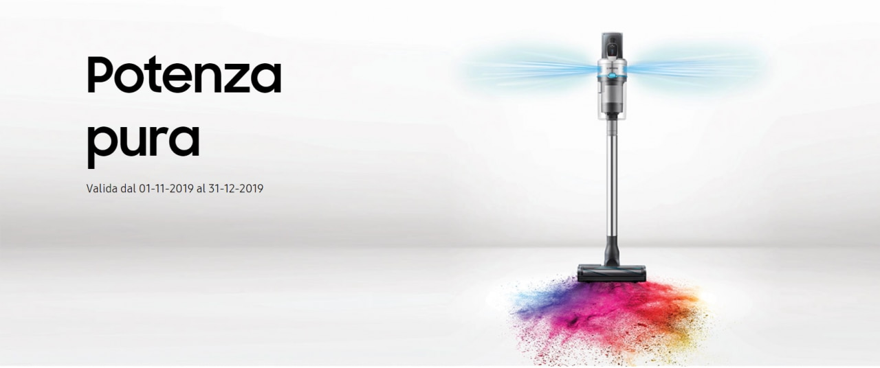 L'autonomia dell'aspirapolvere senza fili POWERstick Jet non finisce mai, grazie alla nuova promo Samsung