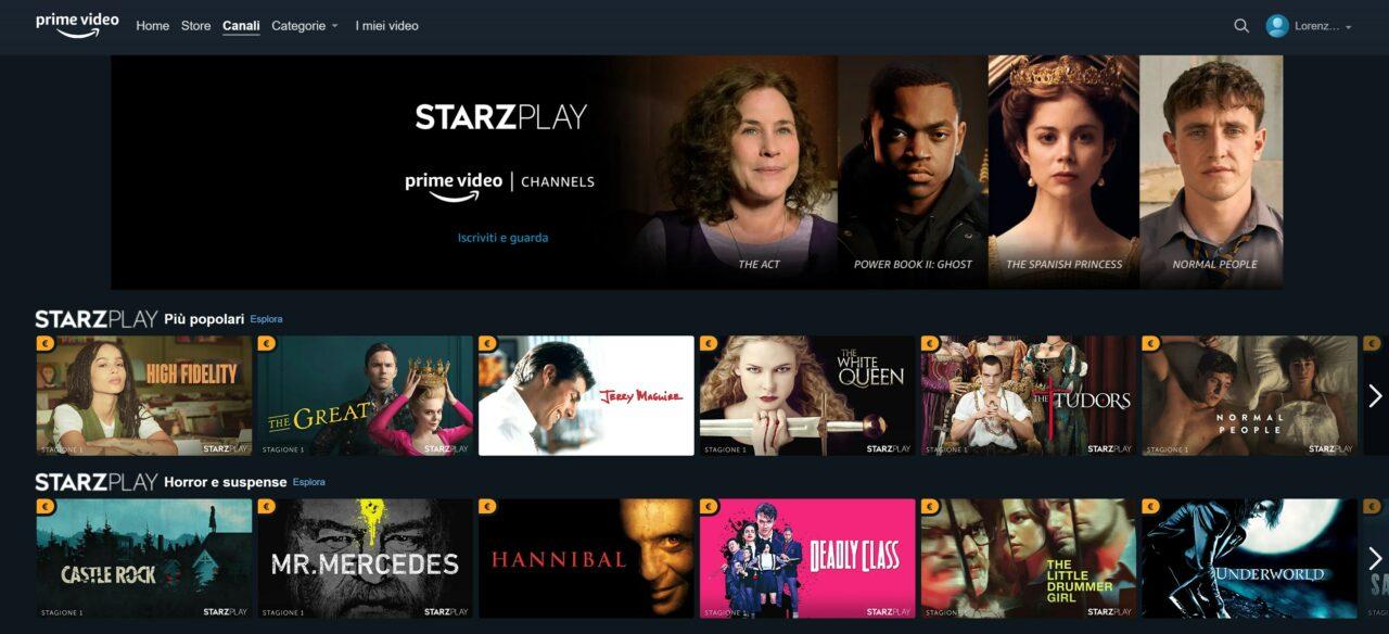 Provate i nuovi canali di Prime Video: costano solo 0,99€ per i primi 3 mesi