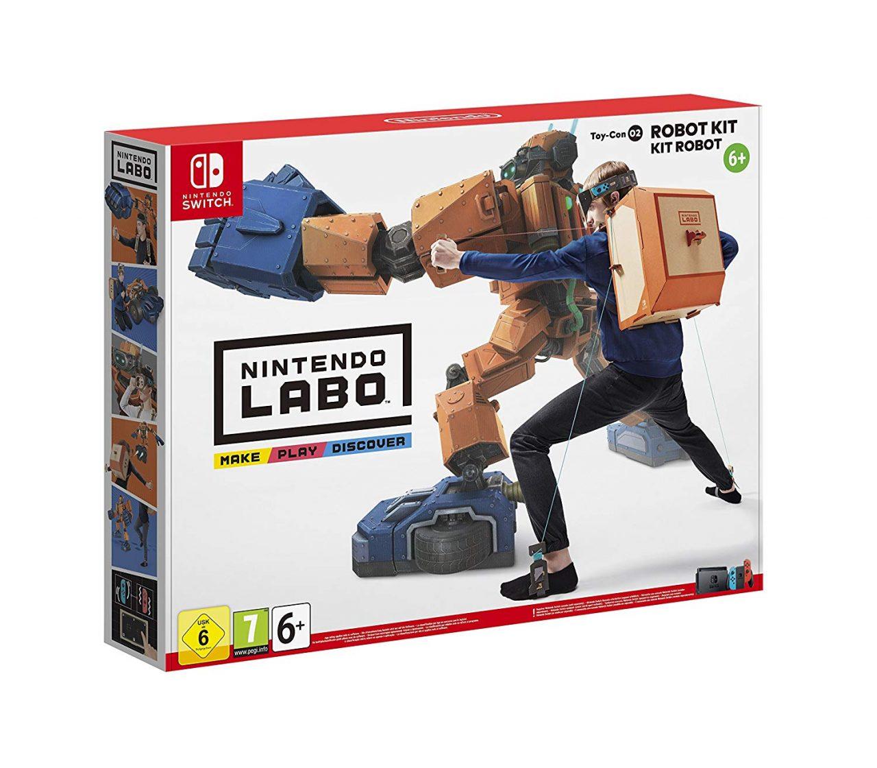 Mettete Nintendo Labo sotto l'albero: il Kit Robot è in super sconto