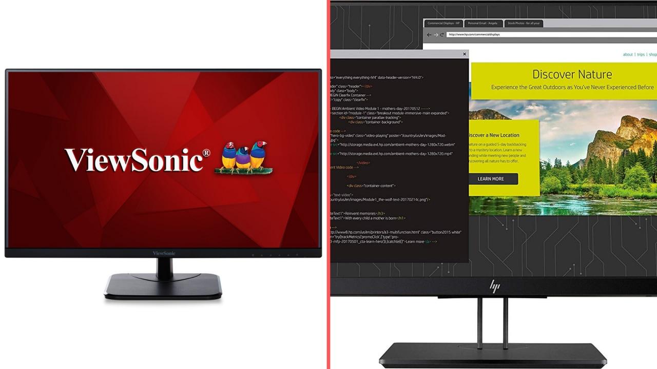 Nuovi monitor per l'ufficio? Ecco due modelli a poco più di 150€