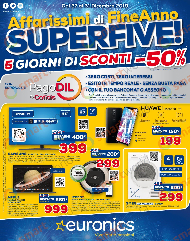 """Volantino Euronics Affarissimi di FineAnno!"""" 27-31 dicembre (1)"""