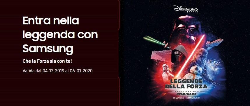 Samsung sente le feste e lancia due promozioni: con una vi manda a Disneyland Paris, con l'altra fa arrivare il cinema in casa vostra!