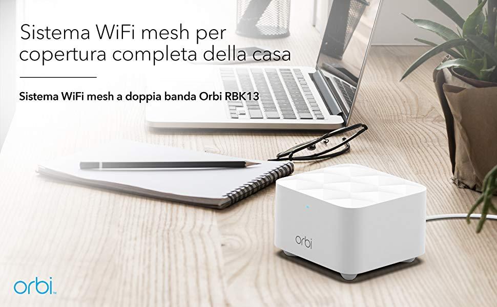 Migliorate la connessione con il sistema Wi-Fi Mesh Netgear Orbi a prezzo speciale