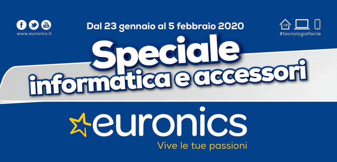 """Volantino Euronics """"Speciale Informatica e Accessori"""" 23 gen-5 feb: che raddoppio! (foto)"""