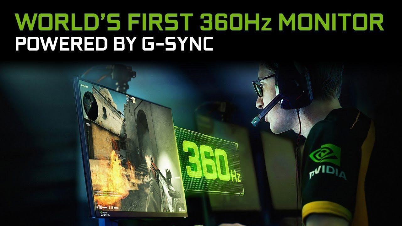 144 Hz vi sembrano pochi? Arriva ASUS ROG Swift a 360 Hz, ovviamente con NVIDIA G-SYNC!