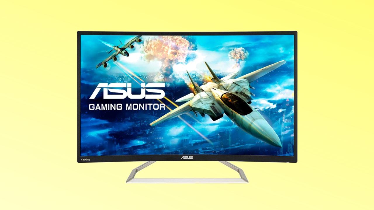 Monitor da gaming curvo, bello e prestante: guardate che sconto per questo ASUS