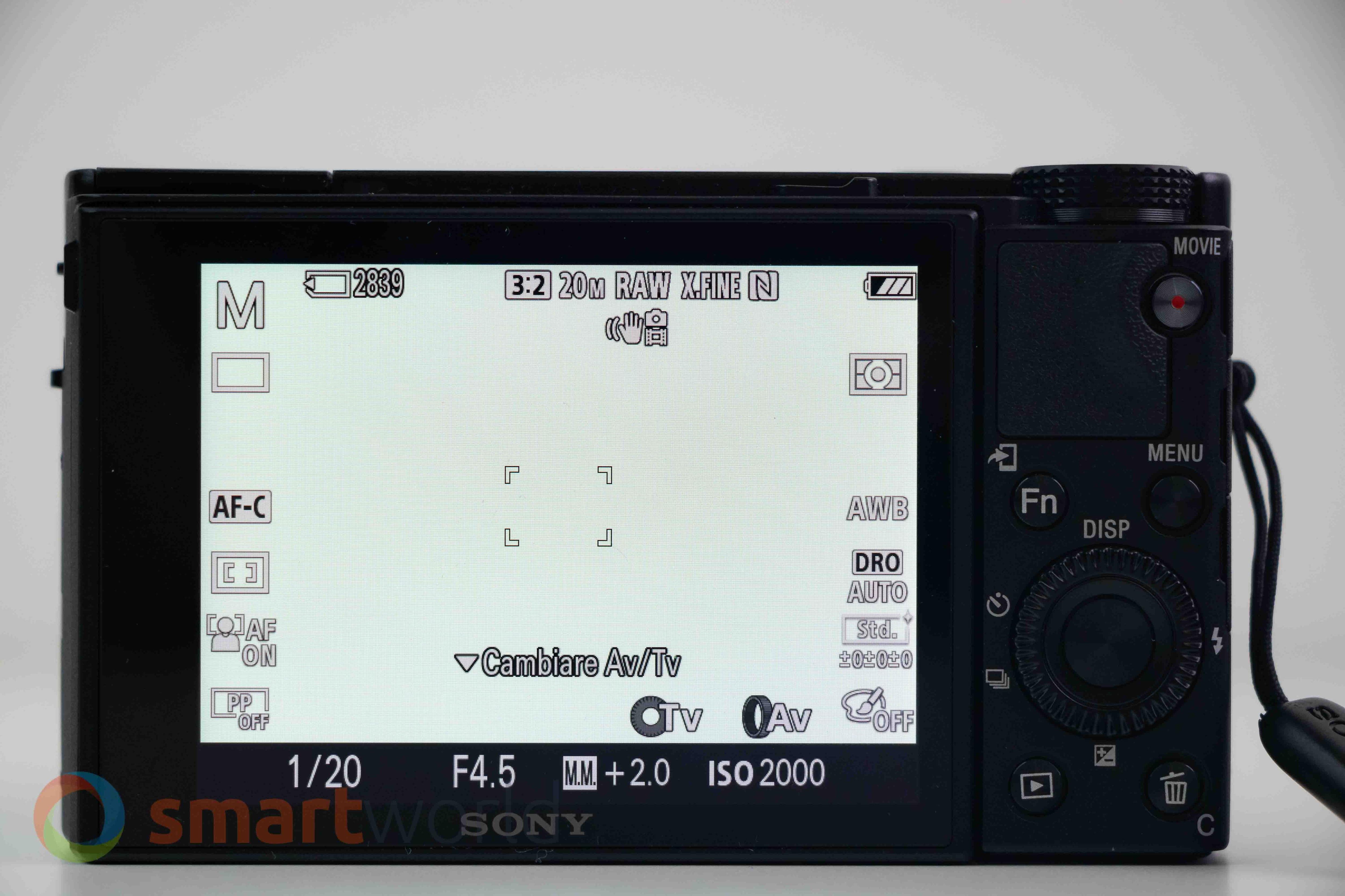 Recensione Sony RX100 VII – Software 001
