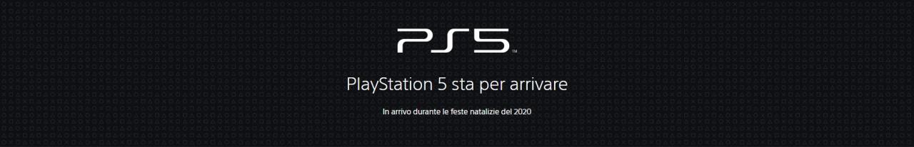 È online il sito di ufficiale di PS5