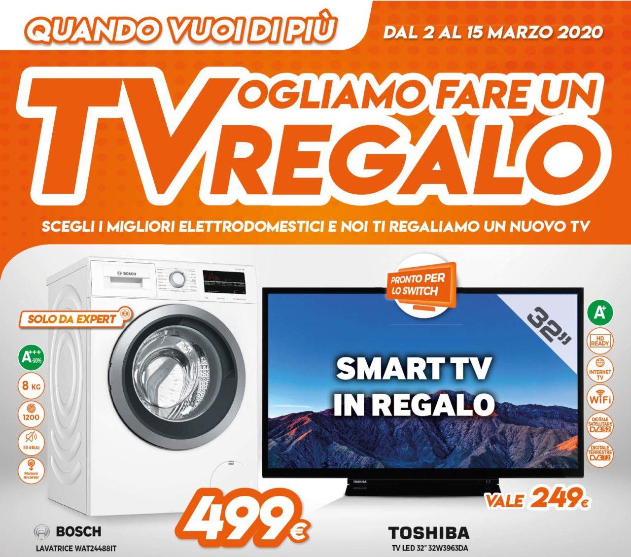 Volantino Expert Tvogliamo Fare Un Regalo 2 15 Marzo Smart Tv Gratis Per Chi Acquista Un Elettrodomestico Smartworld