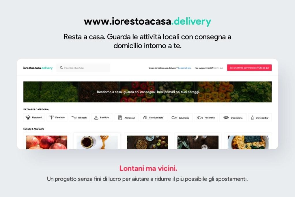 Lontani ma vicini: nasce il servizio di food delivery in Italia per fronteggiare l'emergenza, completamente no profit (foto)