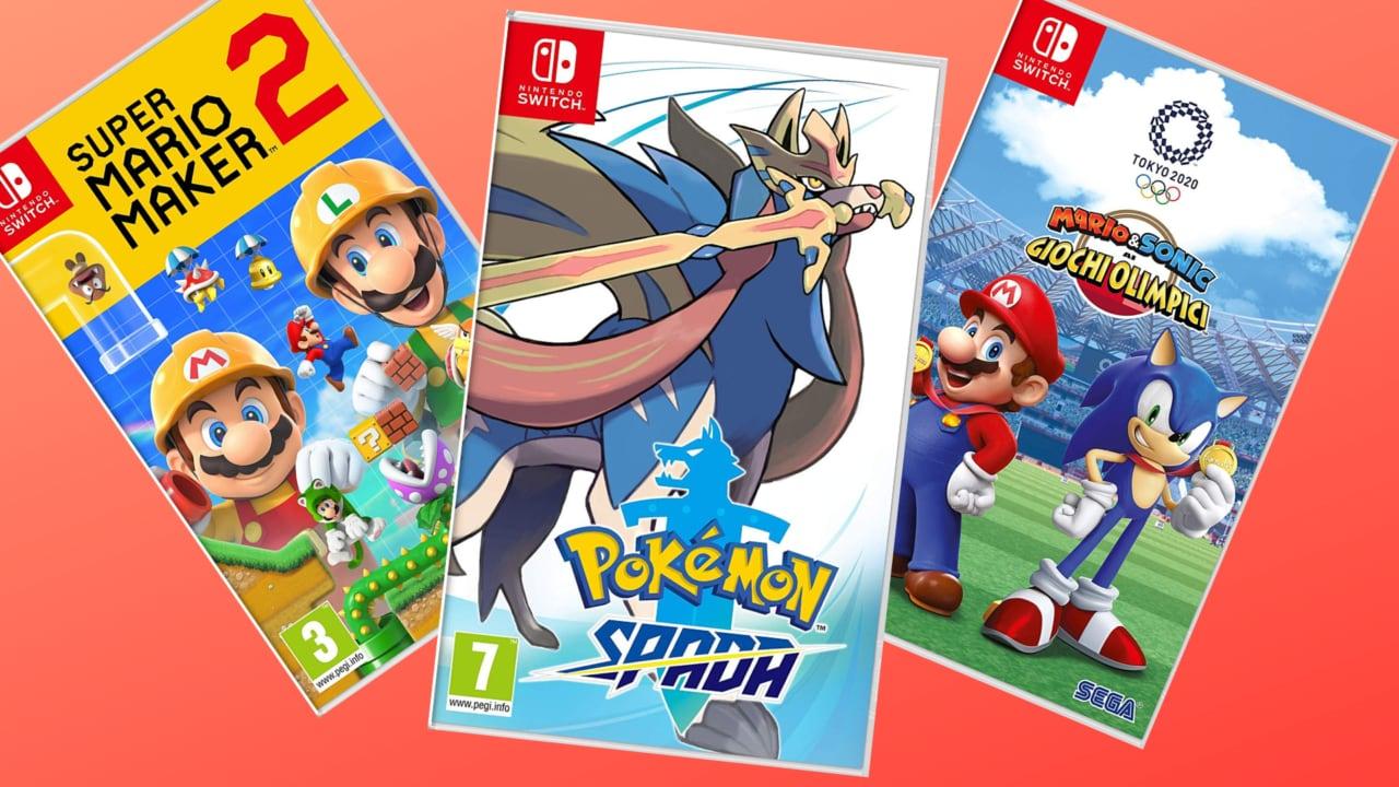 Pokémon, Mario Maker 2 e tanti altri giochi Nintendo Switch in offerta su Amazon