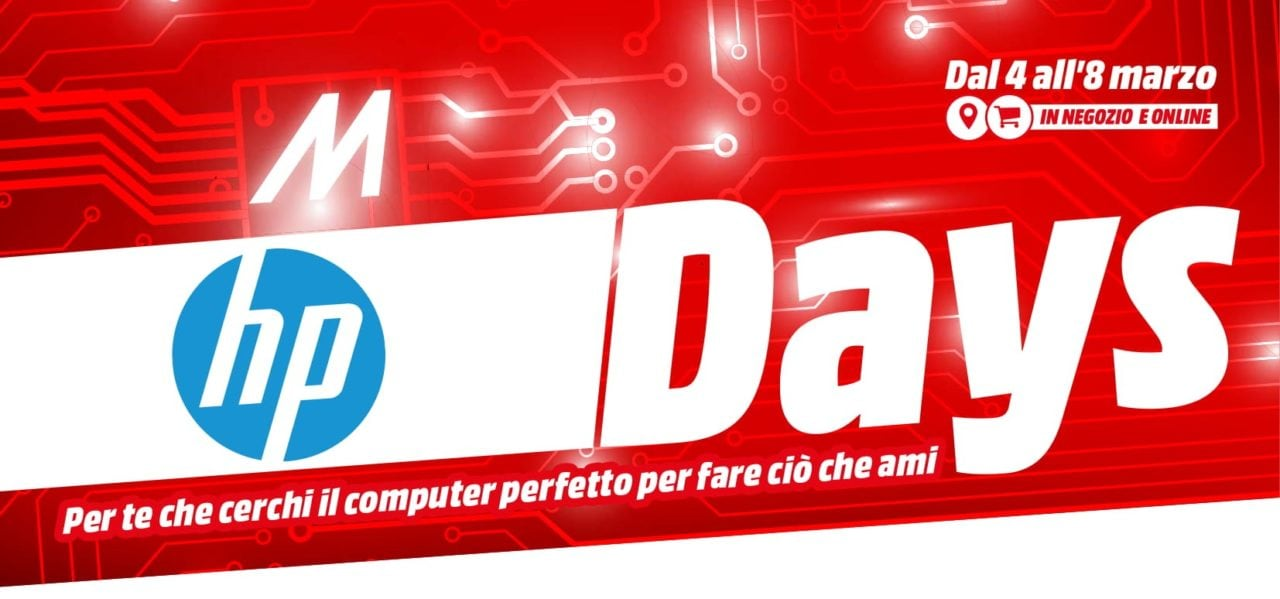 """Volantino MediaWorld """"HP Days"""" 4-8 marzo: fino al -30% su PC, notebook e accessori (foto   Ultimi giorni)"""